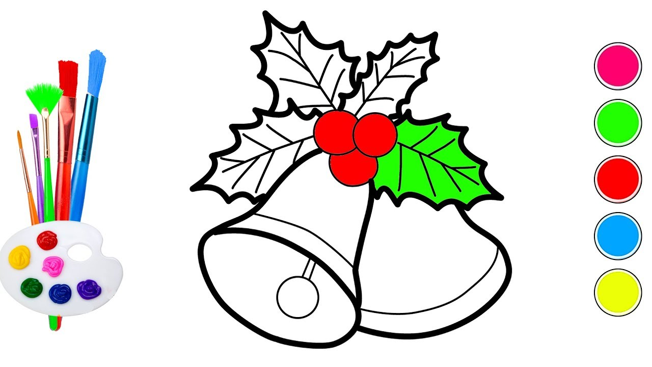 how to draw christmas bells christmas coloring pages for kids