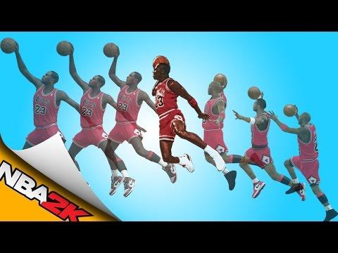 MICHAEL JORDAN free throw line dunk [NBA 2K11 - NBA 2K16] 🏀