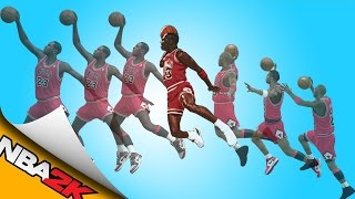 michael jordan free throw line dunk nba 2k11 nba 2k16