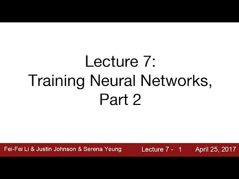 Lecture 7 | Training Neural Networks II