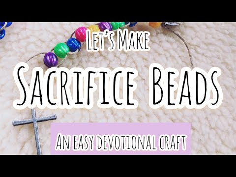 Let's Make SACRIFICE BEADS! An Easy Devotional Craft | Front Porch Catholic | Vlog