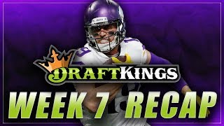 DRAFTKINGS LINEUP REVIEW & RESULTS: NFL Week 7