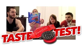 Swedish Fish Oreos -- TASTE TEST!