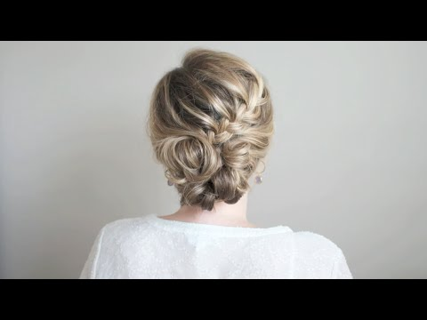 How To Half Braided Updo With The Small Things Blog Youtube