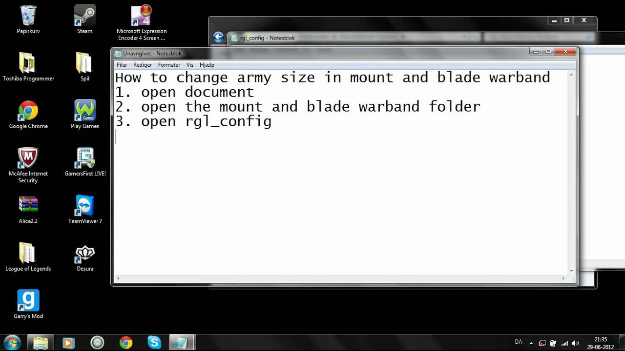 how to change your battle size in mount and blade warband HD - YouTube