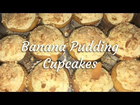 Banana Pudding Cupcakes (Vlogmas Edition~Week 3)