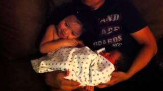Big sister loves her little brother
