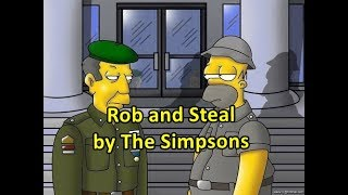 Vocabulary use: Rob and Steal (The Simpsons)