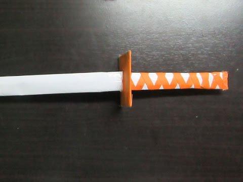 How to Make a Paper Mega Japanese Katana Sword - Easy Tutorials