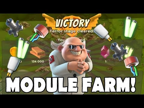 PROTOTYPE MODULE FARMING NOW! Insane Dr Terror | Boom Beach