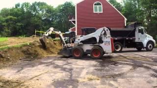 Bobcat S250 Loading Kenworth Dump Truck