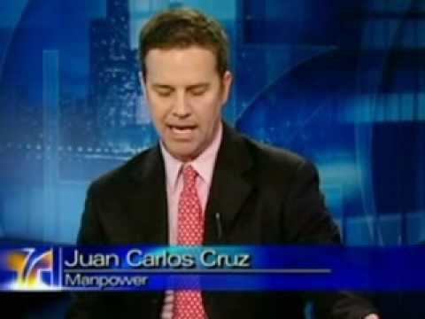 Juan Carlos Cruz Manpower Employment Outlook Survey Telemundo Chicago June 2009