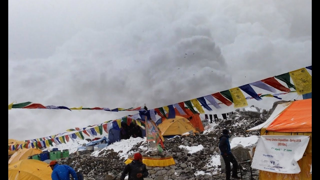 Image result for everest base camp avalanche