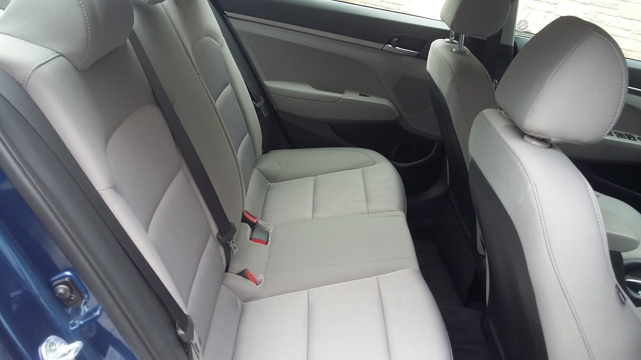 2017 Hyundai Elantra How To Fold Down Back Seats Youtube