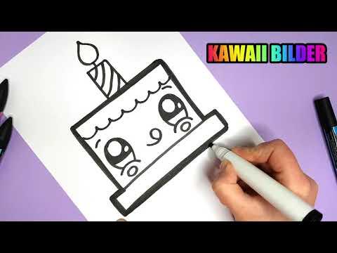 KAWAII GEBURTSTAGSKUCHEN SELBER MALEN - EINFACH UND SÜß