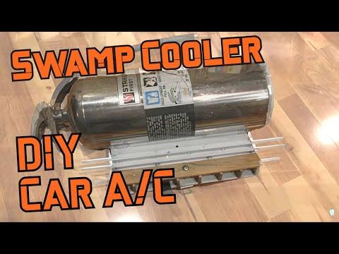 Homemade car air conditioner Vintage Swamp cooler for volkwagen