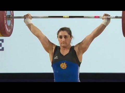 2016 European Weightlifting Championships, Women 69 Kg \\ Тяжелая Атлетика. Чемпионат Европы