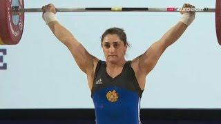 2016 European Weightlifting Championships, Women 69 kg \ Тяжелая Атлетика. Чемпионат Европы
