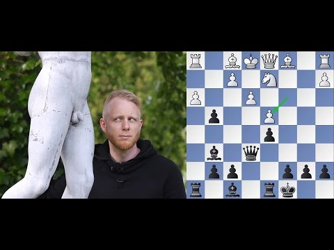 guy explains epic chessgame to complete strangers
