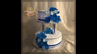 #bizcochodeboda #decoracionbizcocho Idea decoracion bizcocho de Boda /wedding cake idea