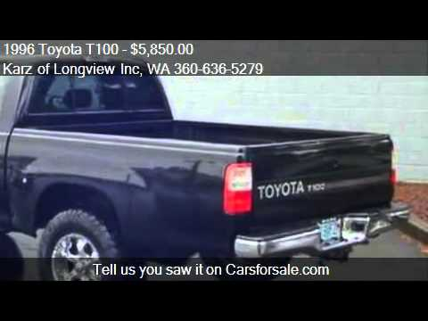 1996 Toyota T100 Ext Cab Sr5 Pkg 4x4 For Sale In Longvie Youtube