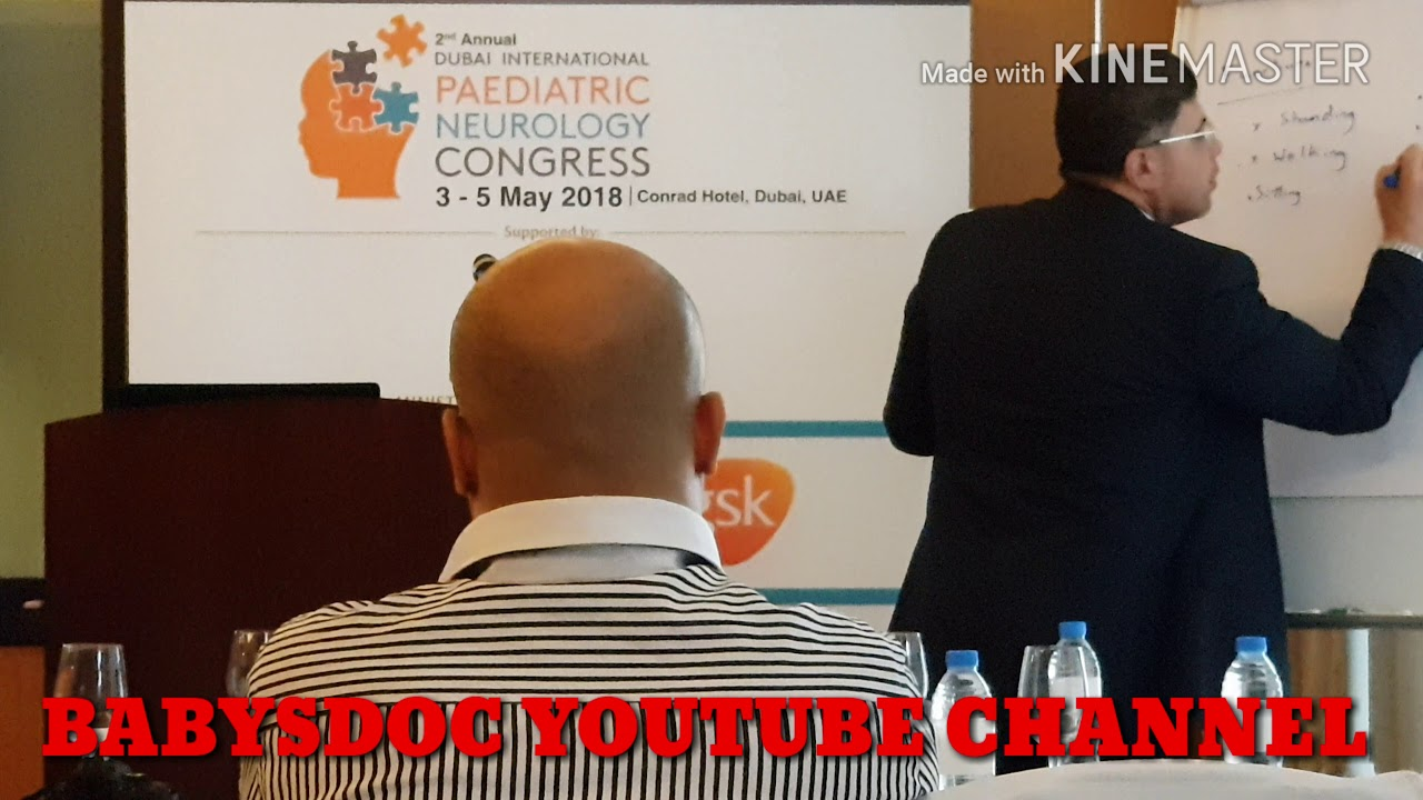 Workshop on 1st day of Pediatrics neurology conference Dubai on 3rd May 2018