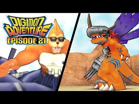 """Digimon Adventure - Ep 21 : """"The Earthquake of MetalGreymon"""" [PSP/ENG]"""