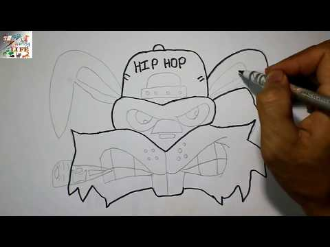 How To Draw A Crazy Rabbit Graffiti Character On Paper
