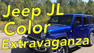 Jeep JL Color Extravaganza Ocean Blue Metallic