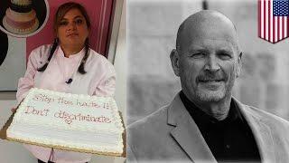На пекарню подали в суд за отказ нарисовать на тортике гомофобскую картинку(Пекарня в Денвере, лауреат множества конкурсов, оказалась в центре скандала: её владелица отказалась украш..., 2015-01-25T14:14:57.000Z)