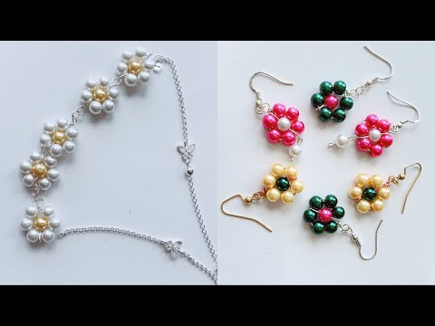 How To Make Simple And Beautiful Pearl Earrings At Home|DIY|Pearls Jewelry Making