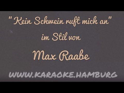 Max Raabe - Kein Schwein ruft mich an KARAOKE