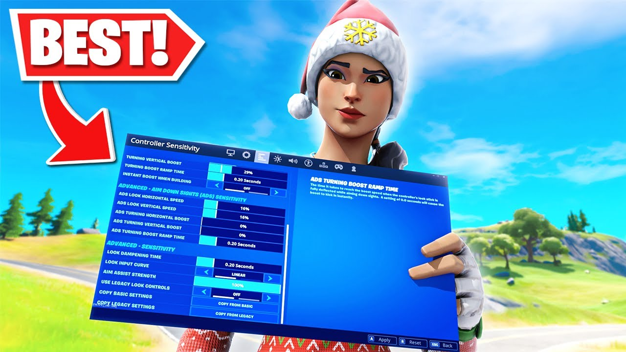 Actually The Best Controller Fortnite Settingssensitivity Chapter 2 Settings Xboxps4