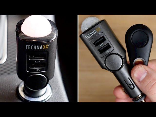 Alarmanlage im Auto & Wohnmobil nachrüsten / einbauen! Technaxx TX-100 Autoalarm // Diebstahlschutz