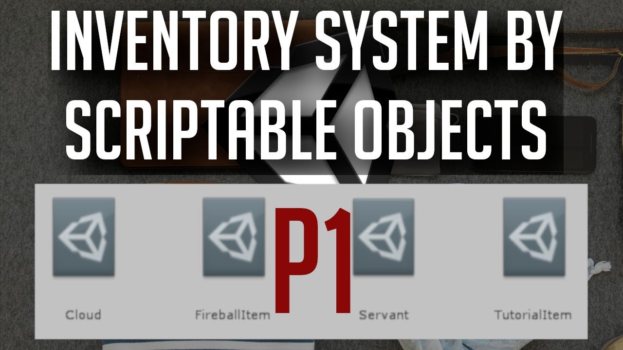 Unity Inventory System With Scriptable Objects
