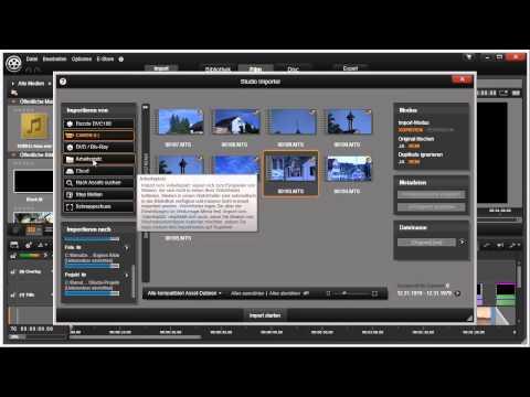 Die Import Funktion von Pinnacle Studio 16 und 17 Video 3 von 114