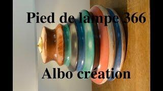 Pieds de lampe créations/France/Artisanat. N°366.