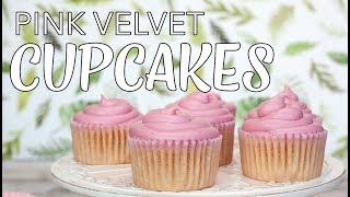 VEGAN CUPCAKES | Pink Velvet Cupcakes | Valentines Day Ideas | The Edgy Veg