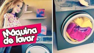 Como fazer Máquina de Lavar para Barbie e outras bonecas!