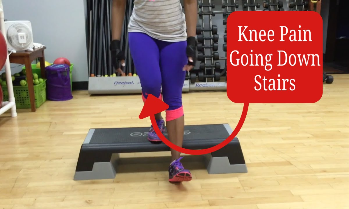 sharp lateral knee pain going down stairs