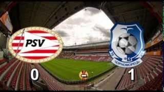 Футбол Лига Европы ПСВ 0 - 1 Черноморец / PSV 0 - 1 Chernomorets / 12-12-2013 / Гол Джедже