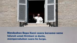 Gambar cover Paus Fransiskus, mengajak doa Bapa Kami secara serentak se dunia