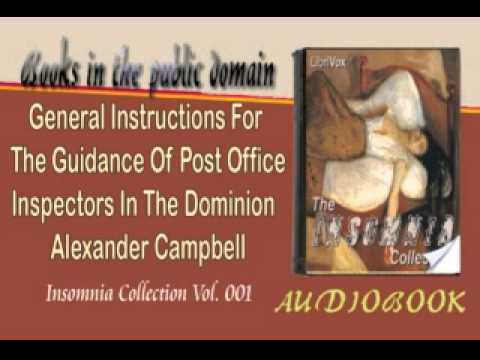 General Instructions For The Guidance Of Post Office Inspectors In The Dominion Alexander Campbell