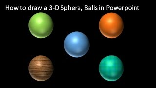 How to draw 3D Sphere, Balls in Powerpoint Tutorial