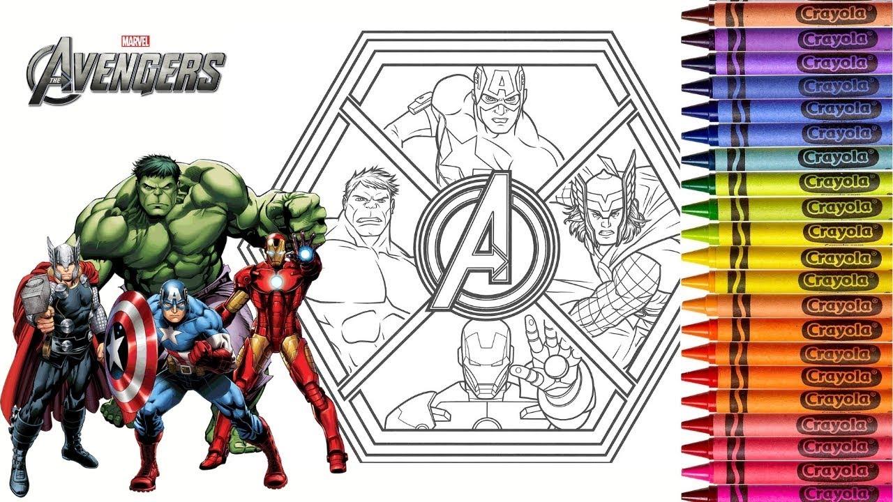 Coloring Marvel Avengers Endgame Hulk Ironman Captain ...