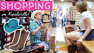 ショッピング英会話!店員さんが超フレンドリーなナッシュビルのウェスタンブーツ屋さん!〔#596〕【アメリカ横断の旅 21🇺🇸】 thumbnail