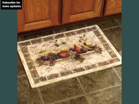 Kitchen Rugs And Mats Tiled Countertops Youtube