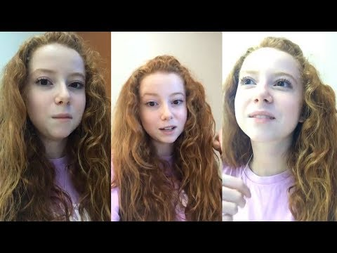 Francesca Capaldi  Instagram Live Stream  19 October 2017