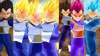 Vegeta All Forms - Dragon Ball Z Budokai Tenkaichi 3 Version Latino (MOD)