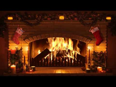 Bright Burning Real Time Christmas Fireplace Recording in Full HD